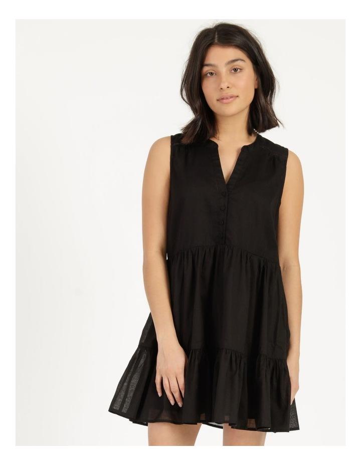 Tiered Button Through Cotton Dress image 1