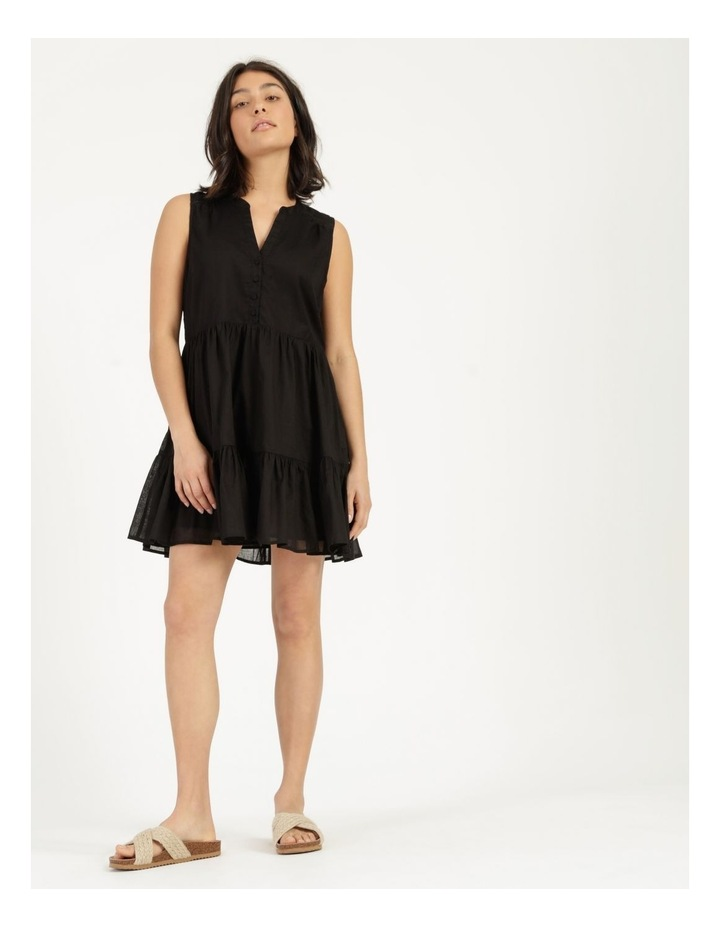 Tiered Button Through Cotton Dress image 2