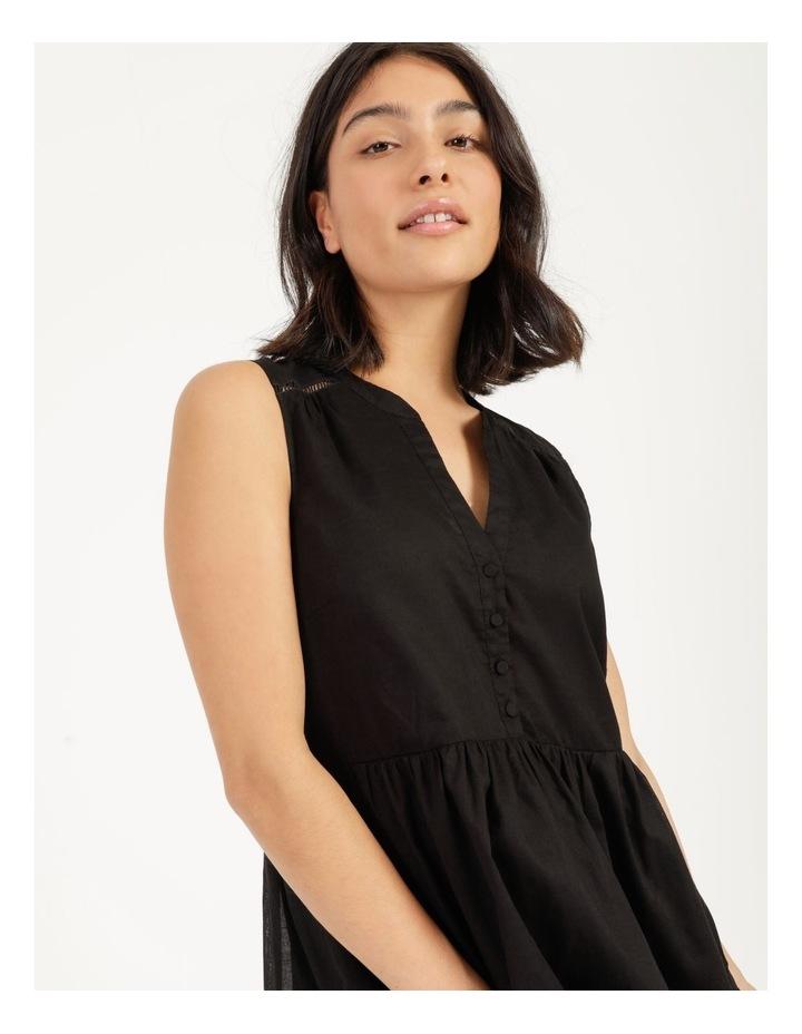 Tiered Button Through Cotton Dress image 3