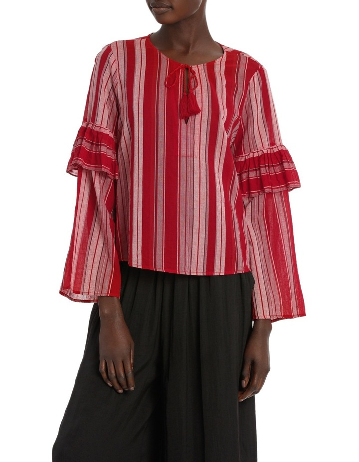 Top Stripe with Ties image 1