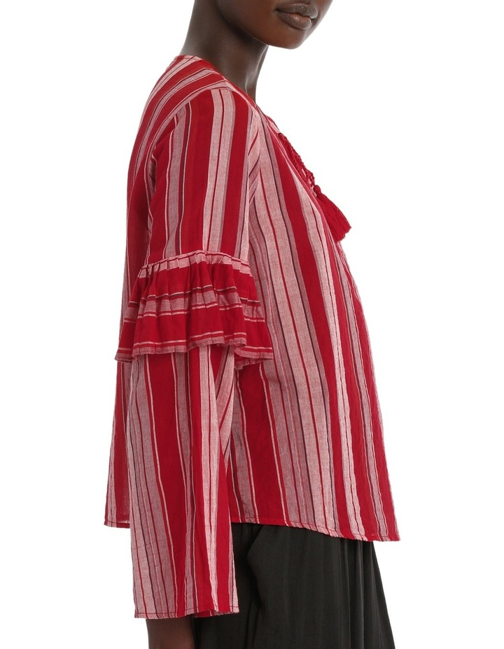 Top Stripe with Ties image 2