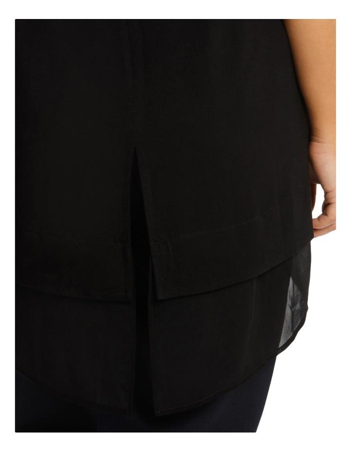 Black Sleevless Layered Top image 4
