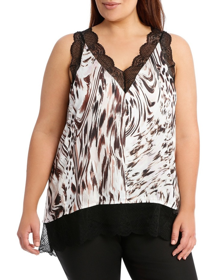 Pink Spur Or Tahiti Amelia Top With Lace image 1