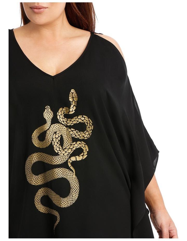 Medusa Metallic Snake Kaftan image 4