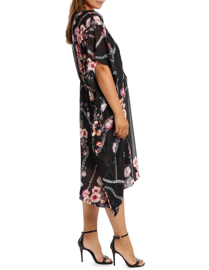 Flower Chain Gathrd Waist Kaftan Dress image 2