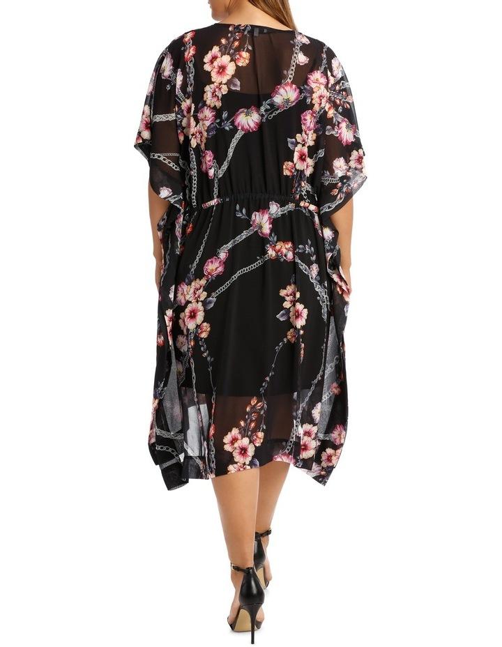 Flower Chain Gathrd Waist Kaftan Dress image 3