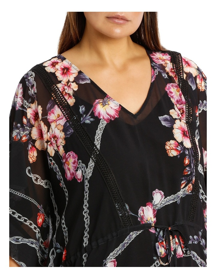 Flower Chain Gathrd Waist Kaftan Dress image 4