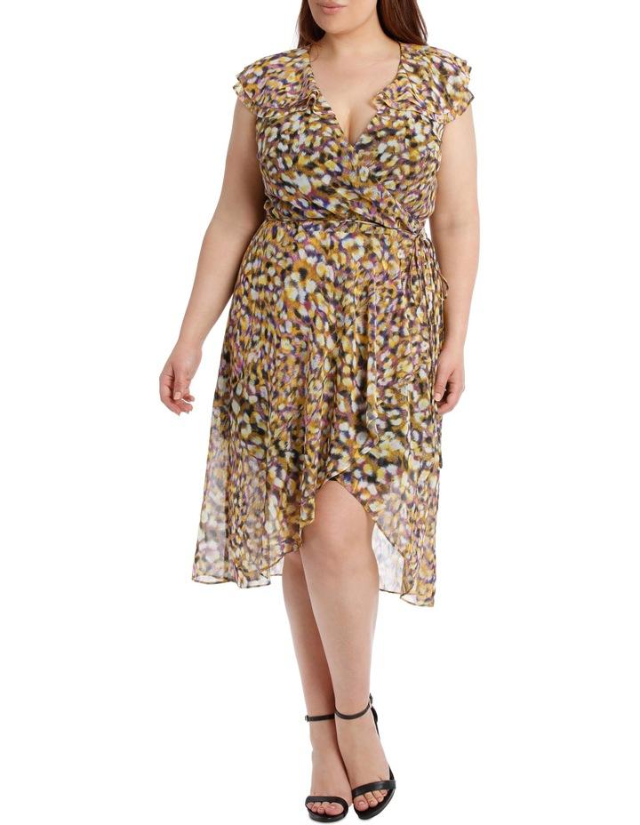 Techno Leopard Frill Dress image 1