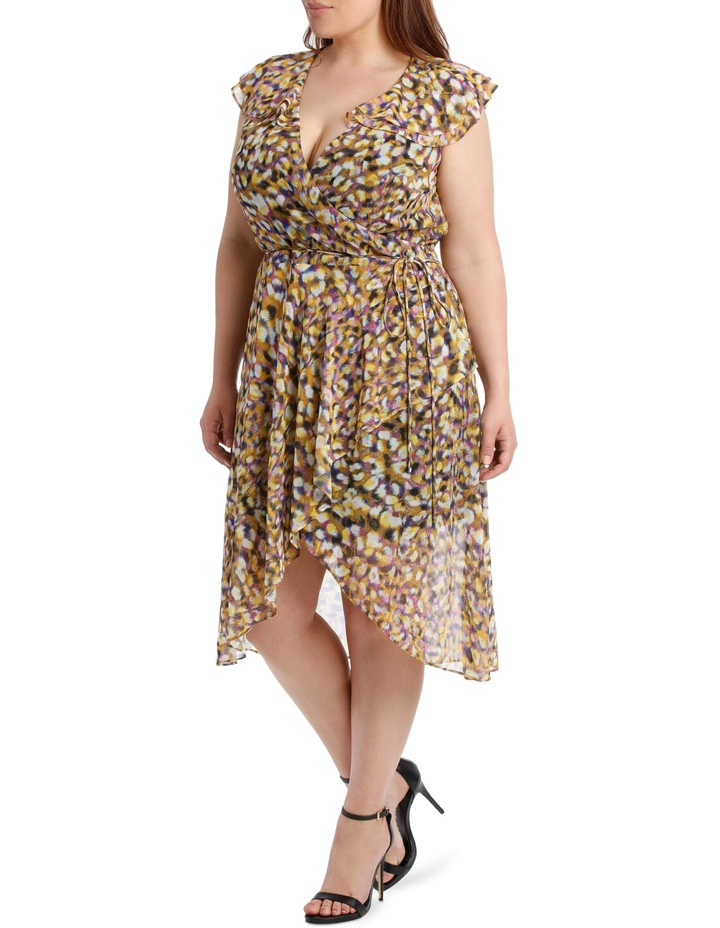 Techno Leopard Frill Dress image 2