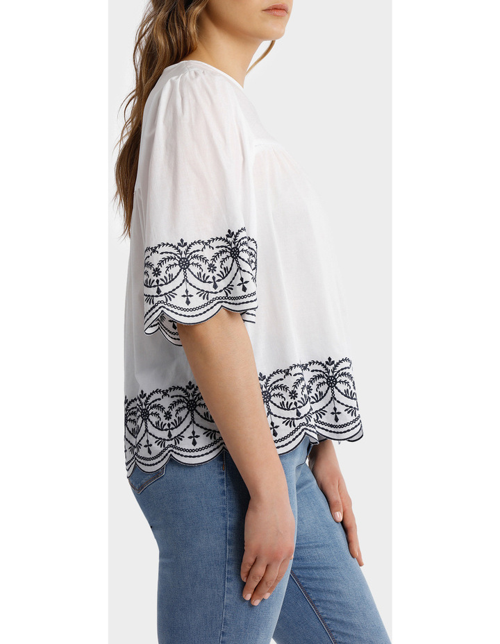 Top with Yoke Embroidery image 2