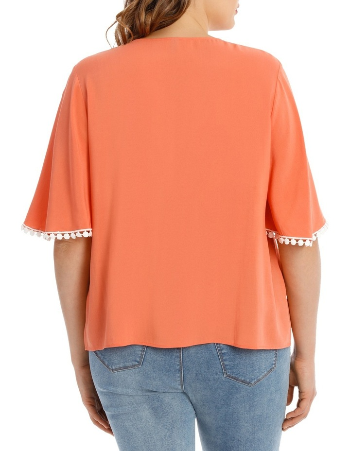 Coral Frill Sleeve Top image 3