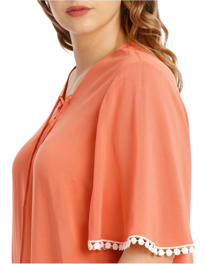 Coral Frill Sleeve Top image 4