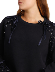 Piper 16-22 - Sweat Top With Velvet Trim PPW18057
