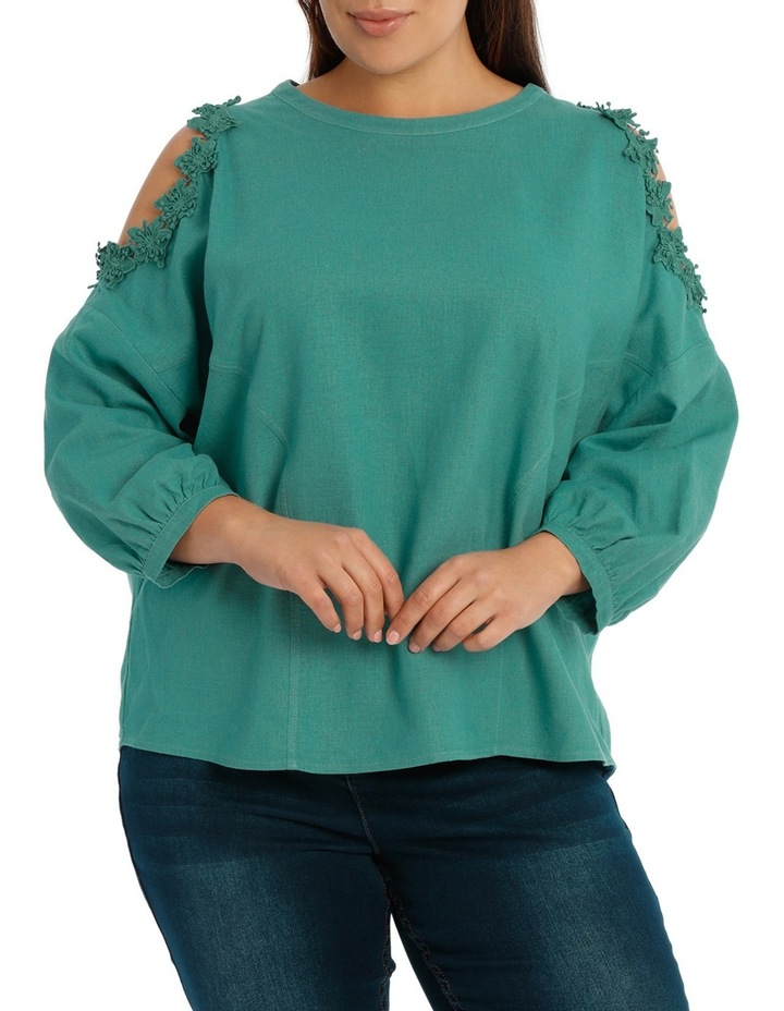 Top with Lace Detail Cold Shoulder image 1