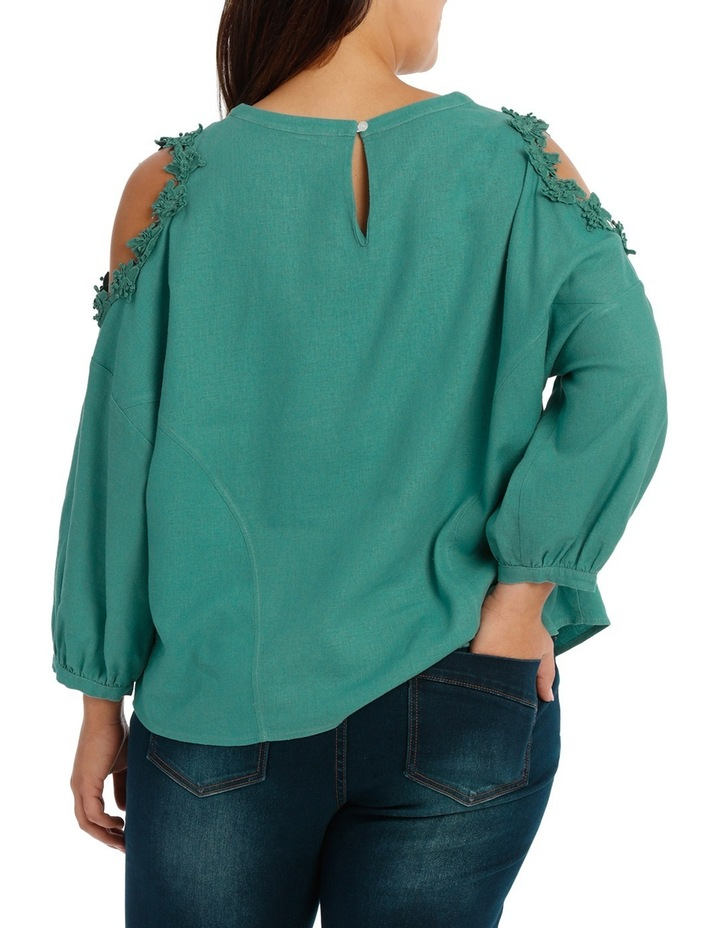 Top with Lace Detail Cold Shoulder image 3