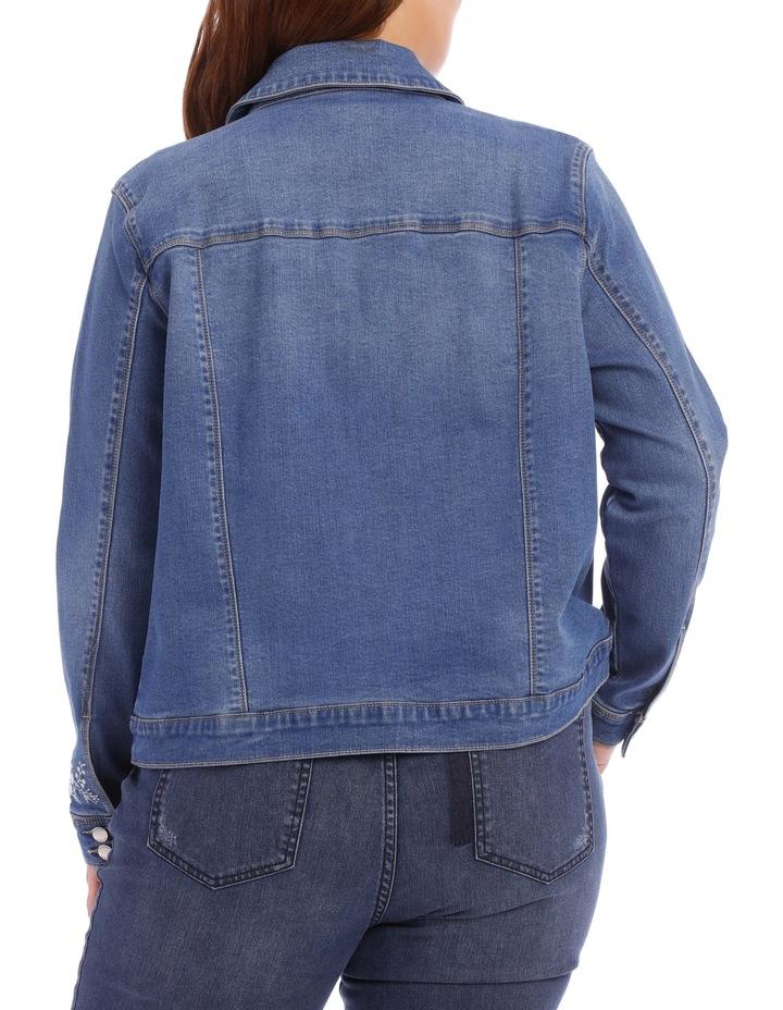 Embroidered Denim Jacket image 5