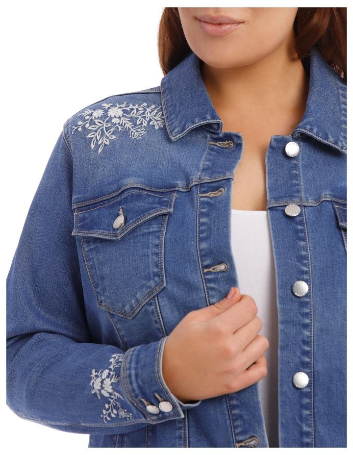Embroidered Denim Jacket image 7