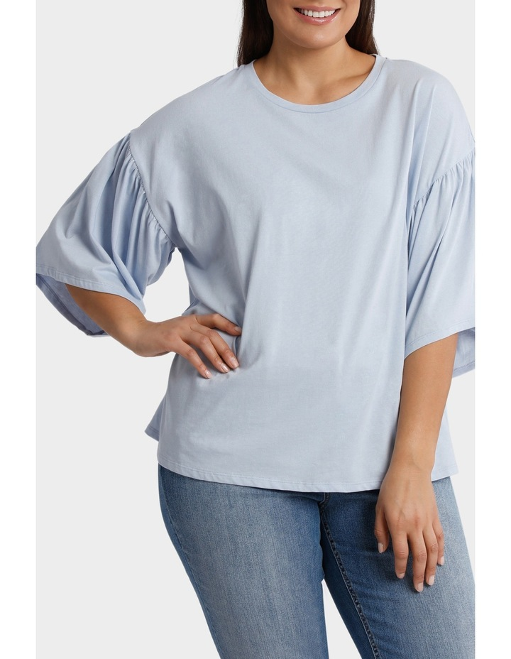 Tee with Fluted Sleeve image 1