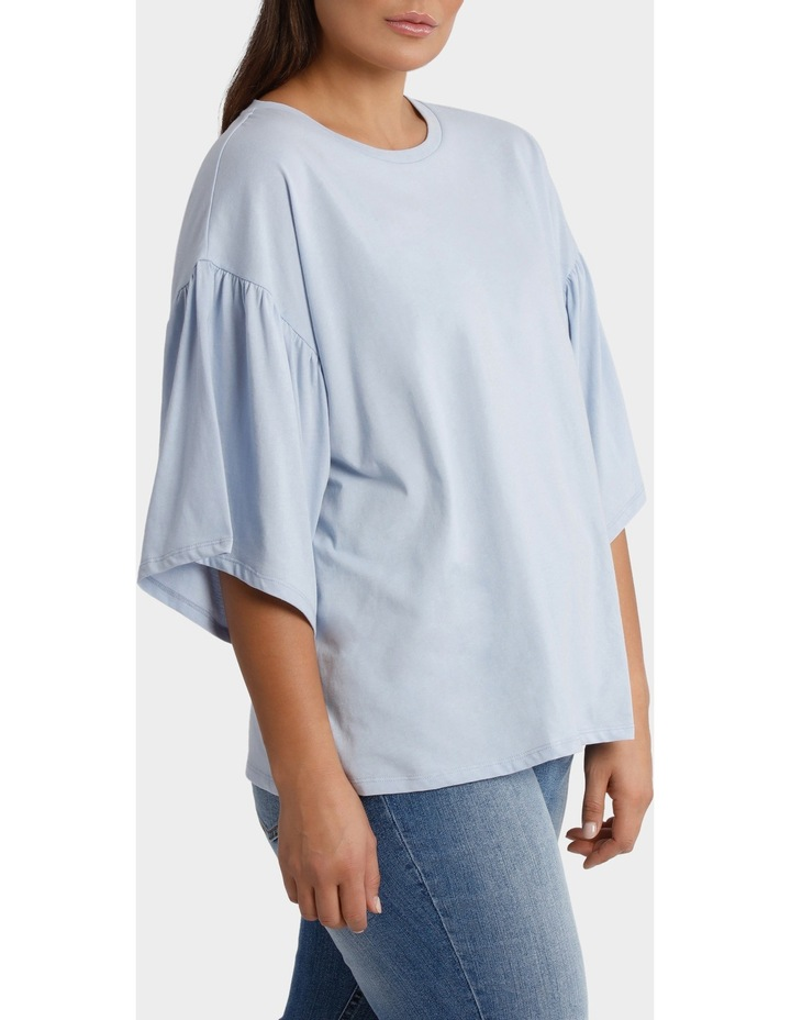 Tee with Fluted Sleeve image 2
