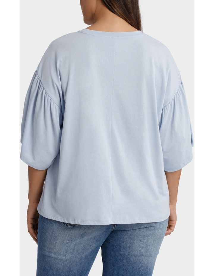 Tee with Fluted Sleeve image 3
