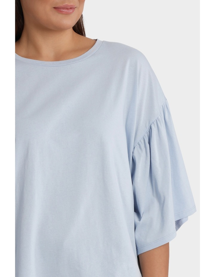 Tee with Fluted Sleeve image 4