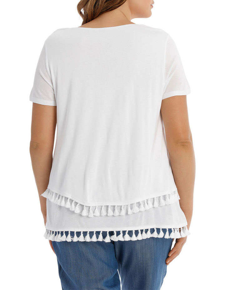 T- Shirt with tassles image 3