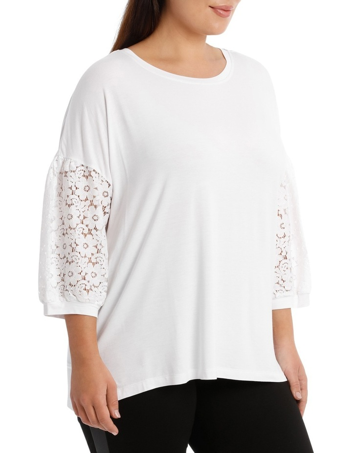 Tee With Lace Sleeve image 2