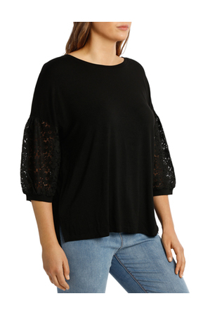 Piper 16-22 - Tee With lace Sleeve