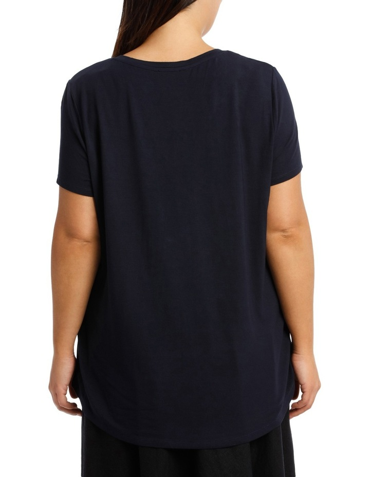 Tee With Vee Neck Short Sleeve image 3