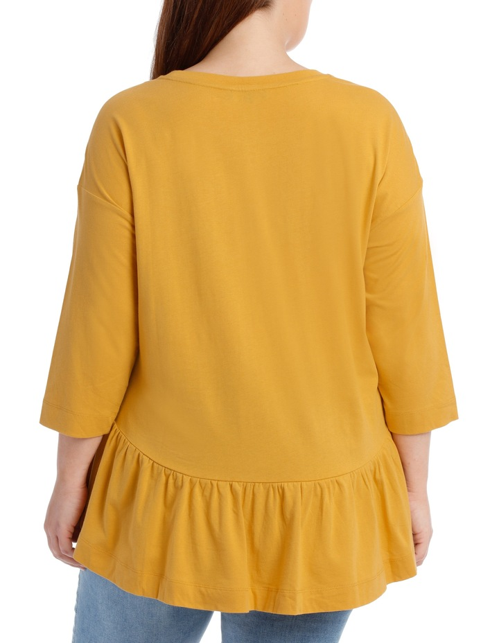 Tee with Frill 3/4 sleeve image 3
