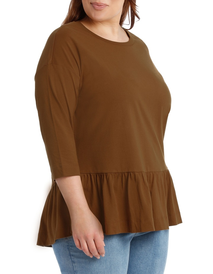 Tee with Frill 3/4 sleeve image 2