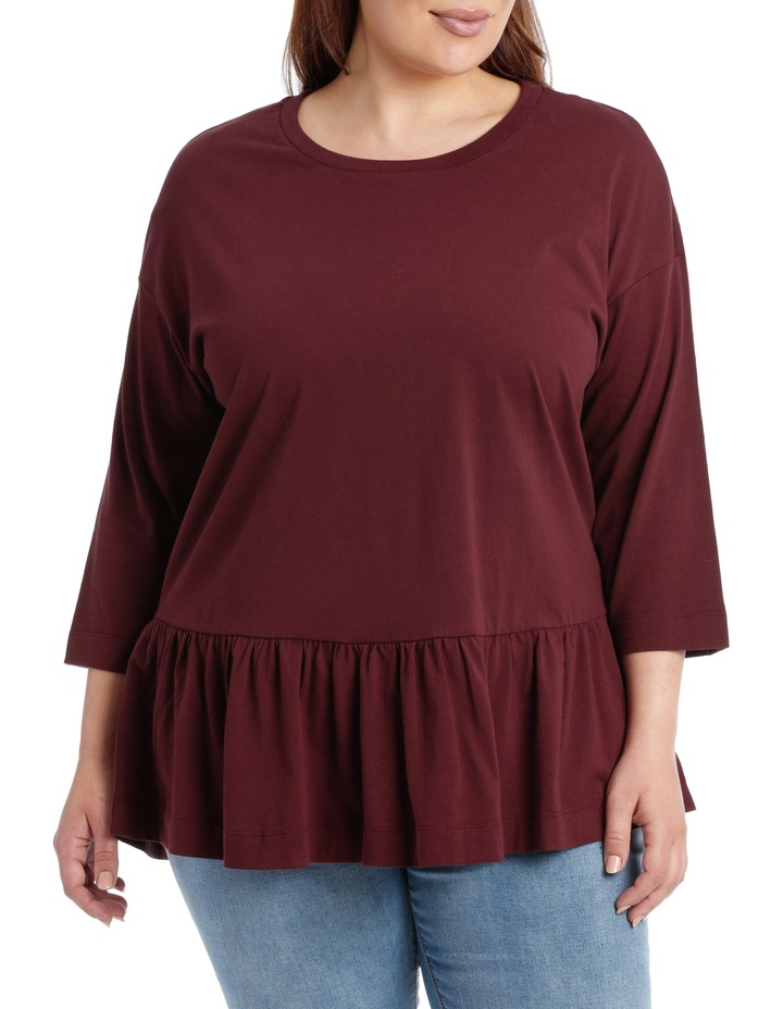 Tee With Frill 3/4 Sleeve image 1