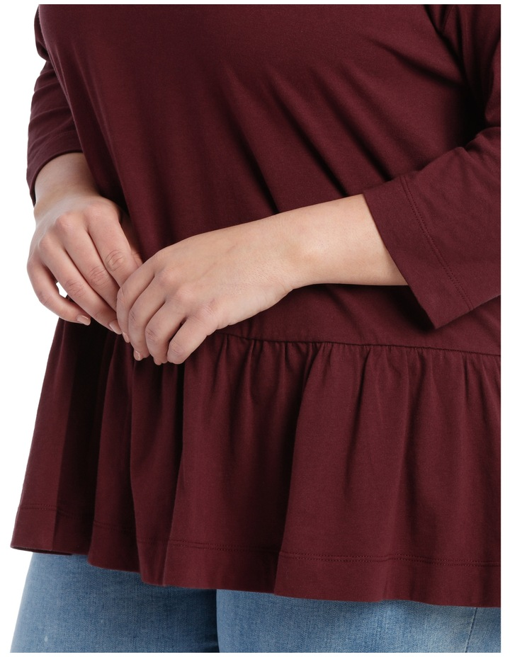 Tee With Frill 3/4 Sleeve image 4