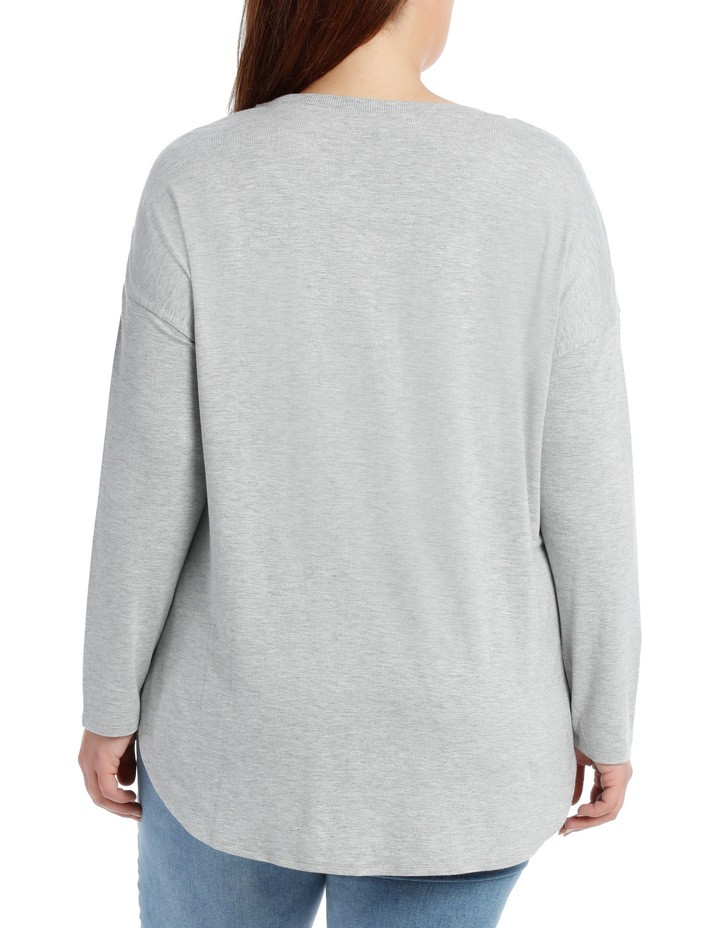 Tee Crew Neck Oversized With Side Splits image 3