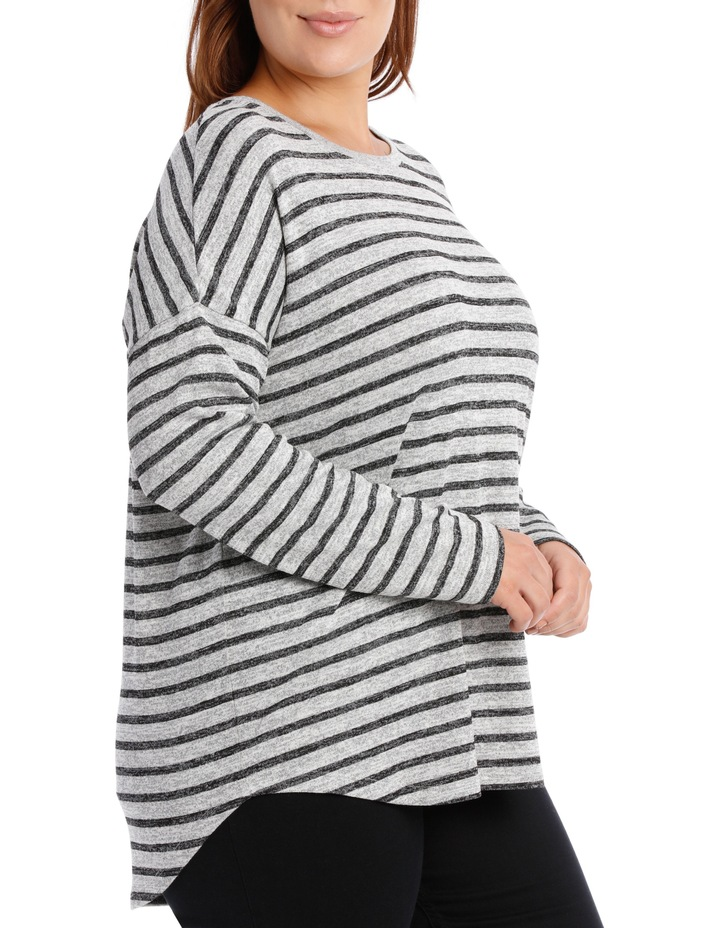 Tee Oversized Textured Stripe image 2