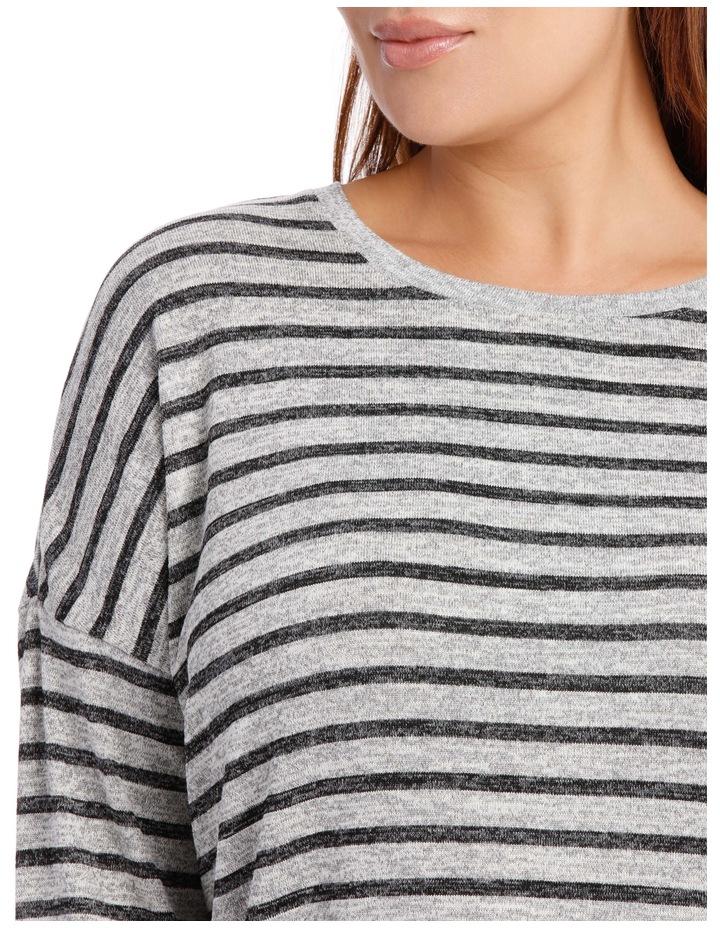 Tee Oversized Textured Stripe image 4