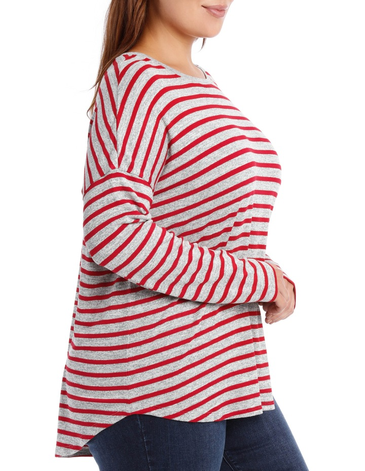 Tee Oversized Textured Stripe image 2