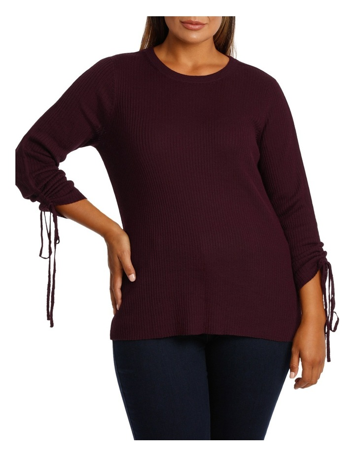 Sweater rouched sleeve image 1