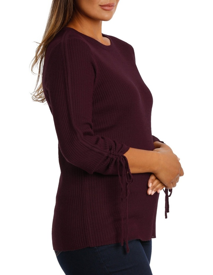 Sweater rouched sleeve image 2