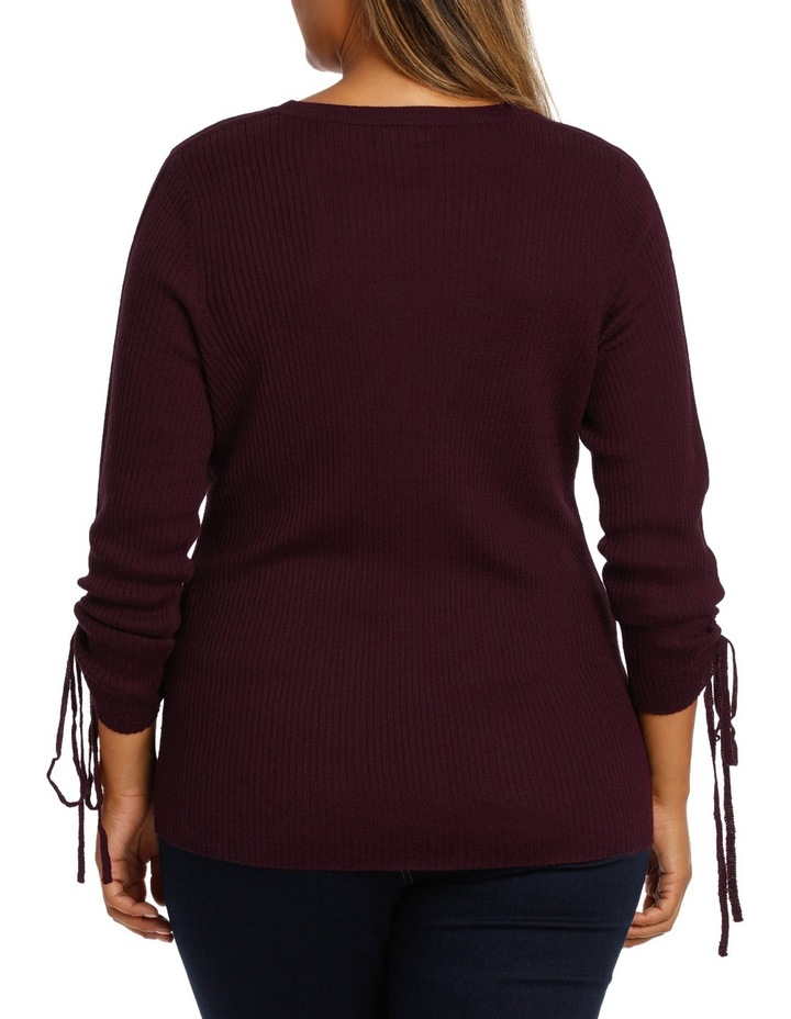 Sweater rouched sleeve image 3