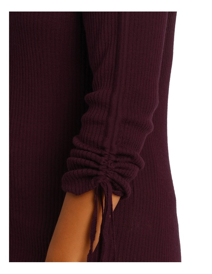 Sweater rouched sleeve image 4
