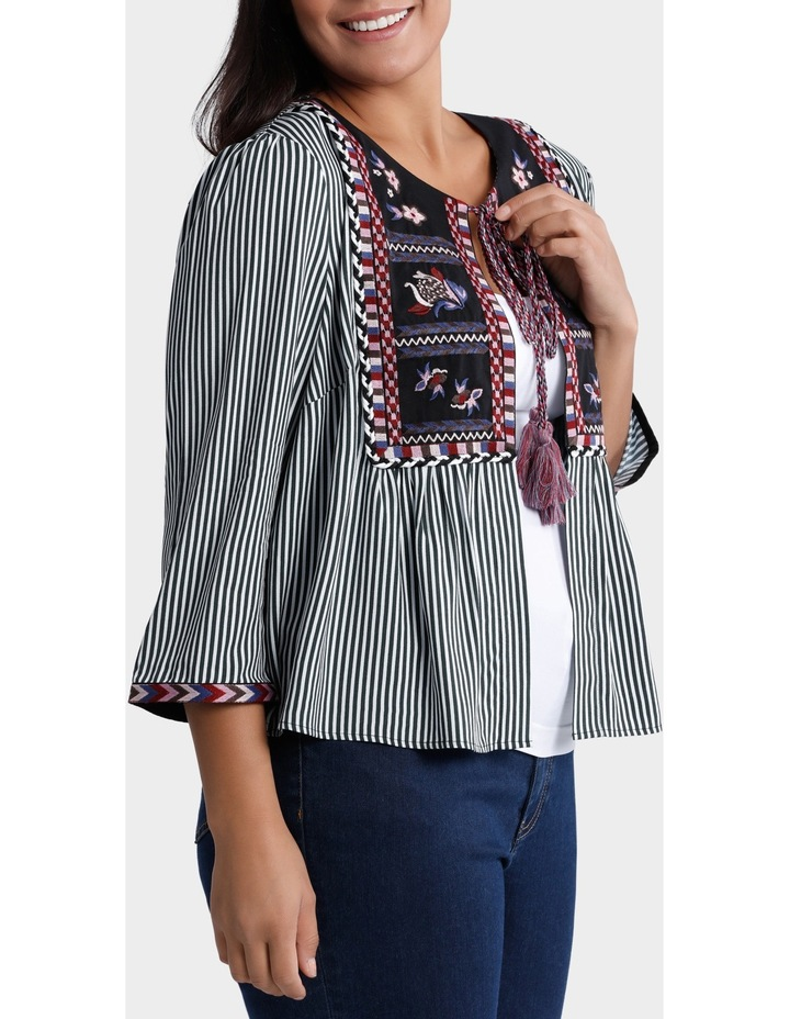 Jacket Stripe Combo with Embroidery image 2