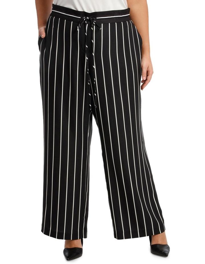 Pant Stripe Wide Leg Elastic Waist image 1