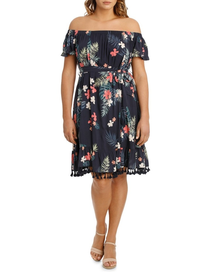 Dress Pom Pom Tropical Print image 1