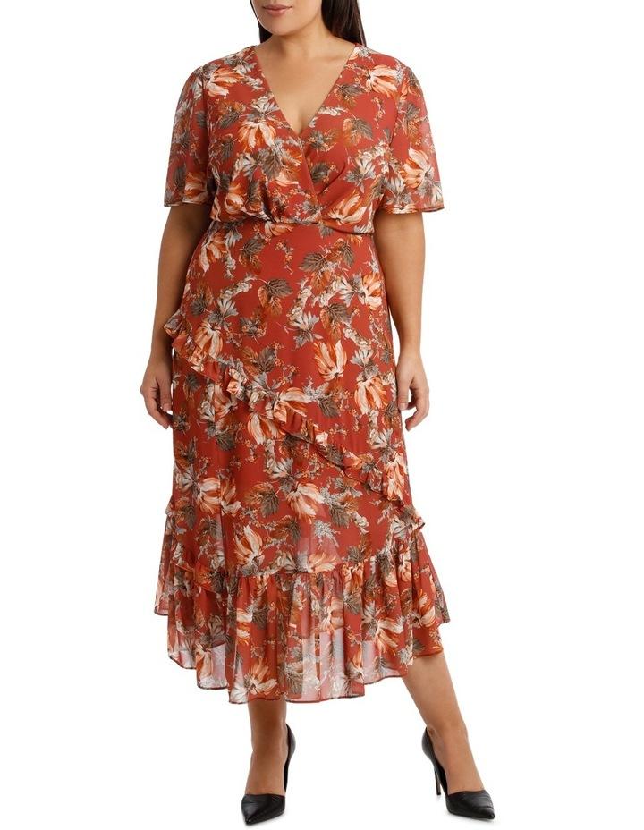 Dress Ruffle Sleeve Multi Print image 1