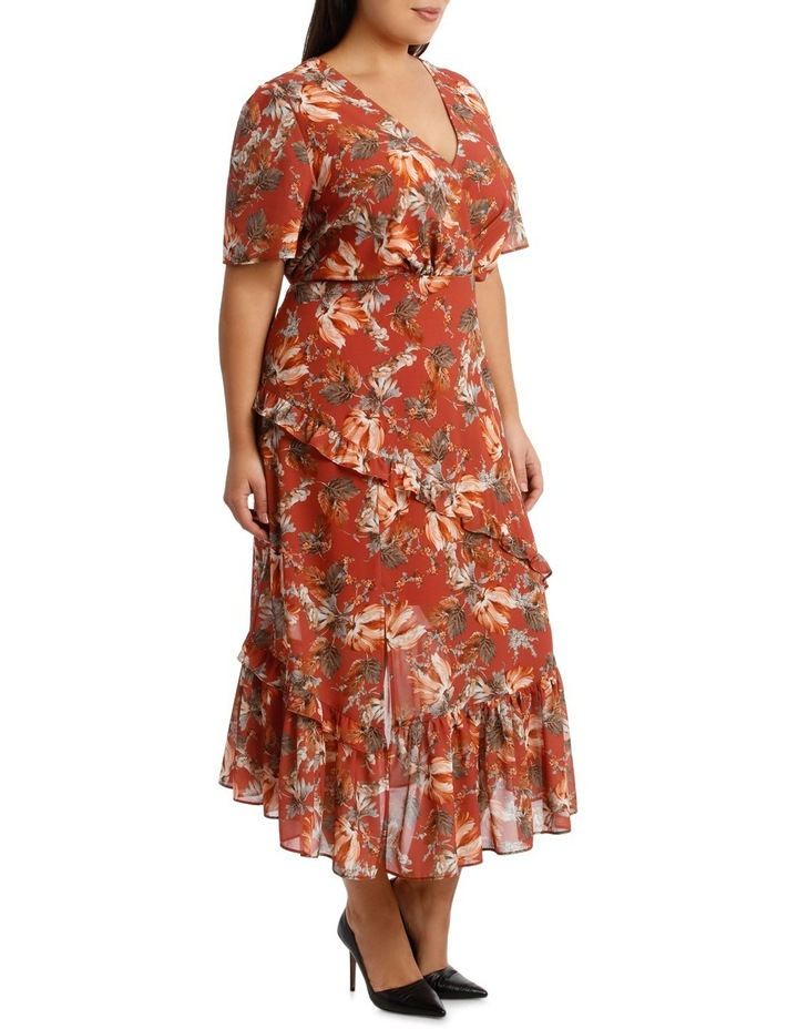 Dress Ruffle Sleeve Multi Print image 2