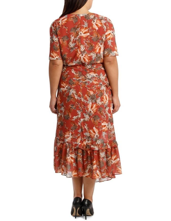 Dress Ruffle Sleeve Multi Print image 3