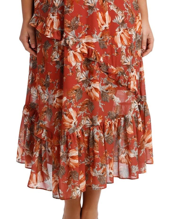 Dress Ruffle Sleeve Multi Print image 4