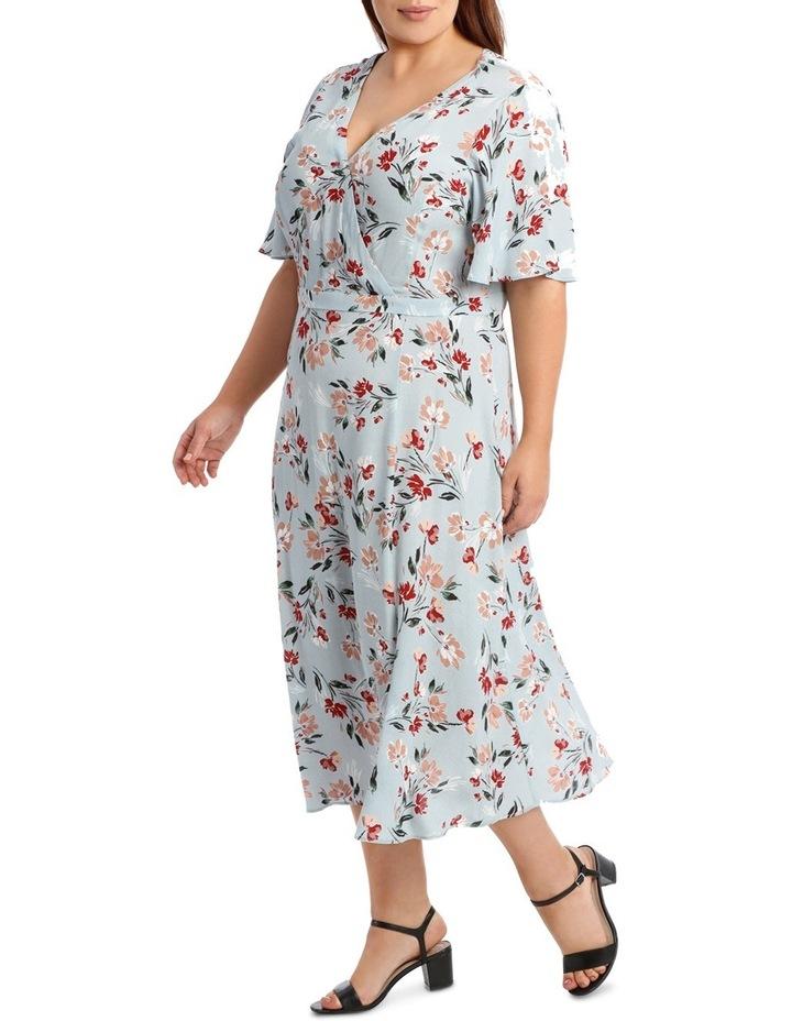 Mock Wrap Dress With Spilit image 4
