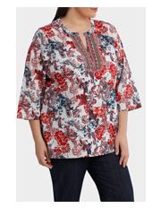 Regatta Woman - Soft Paisley Beaded 3/4 Sleeve Top